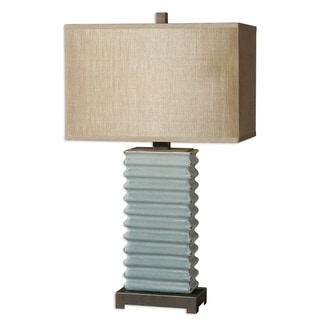 Uttermost Lupara 1-light Blue Ceramic Table Lamp