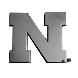 Fanmats NCAA Nebraska Chromed Metal Emblem