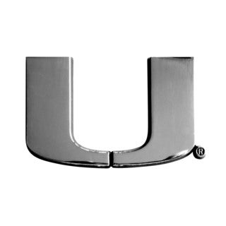 Fanmats NCAA Miami Hurricanes Chromed Metal Emblem