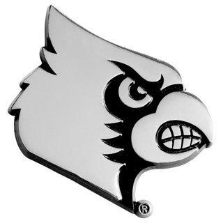 Fanmats NCAA Louisville Cardinals Chromed Metal Emblem