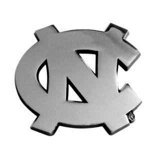 Fanmats NCAA UNC University of North Carolina Chromed Metal Emblem