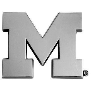 Fanmats NCAA Michigan Chromed Metal Emblem