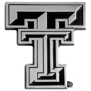 Fanmats NCAA Texas Tech Chromed Metal Emblem