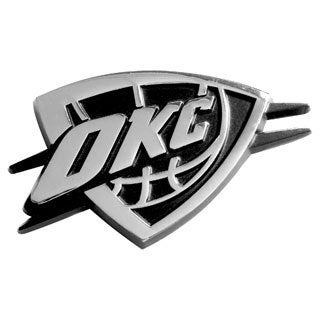 Fanmats NBA Oklahoma City Thunder Chromed Metal Emblem