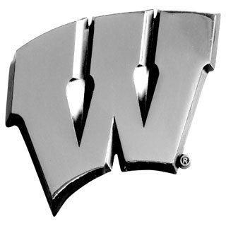 Fanmats NCAA Wisconsin Chromed Metal Emblem
