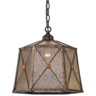 Uttermost Basiliano 1-light Antiqued Silver Pendant