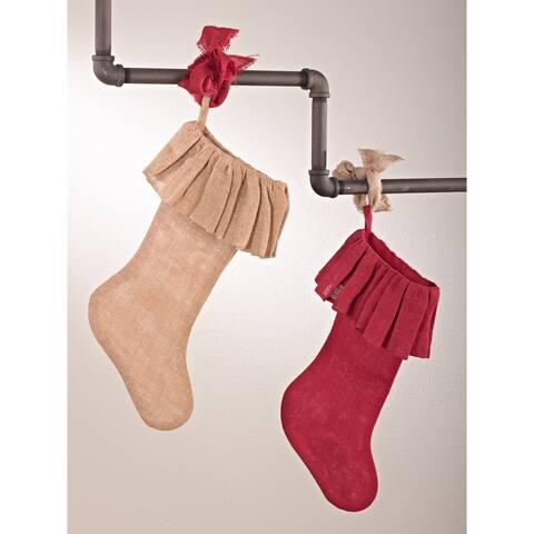 Jute Christmas Stocking