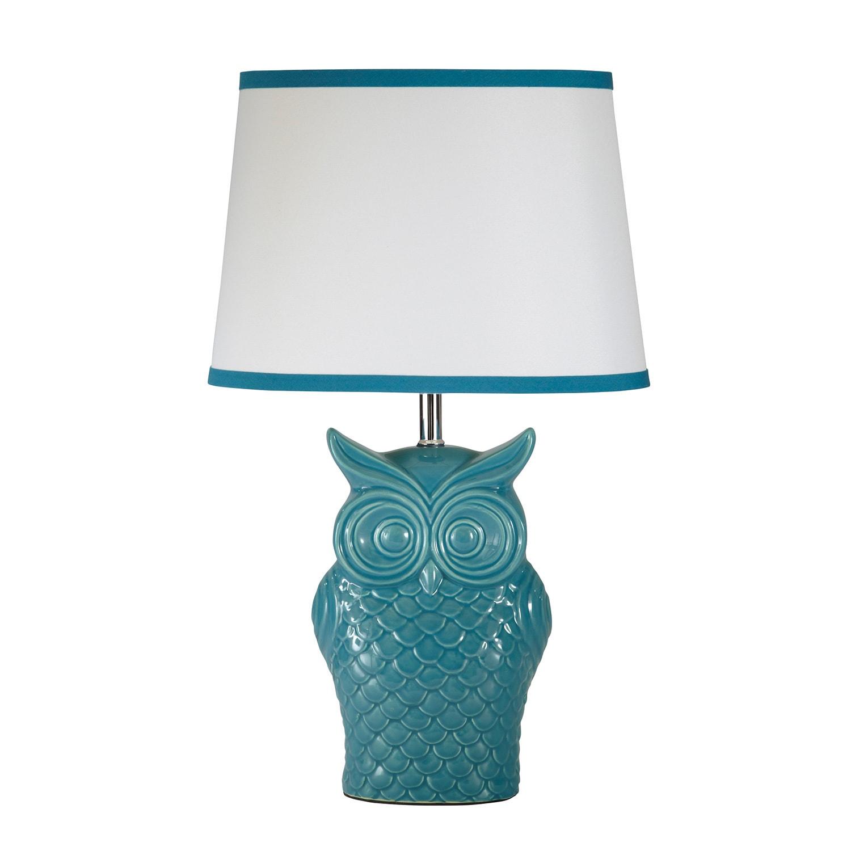 Ashley Blue Owl Table Lamp (Blue Owl Lamp) (Ceramic)