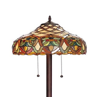 Warehouse of Tiffany 'Arielle' Ivory Tiffany Style Floor Lamp