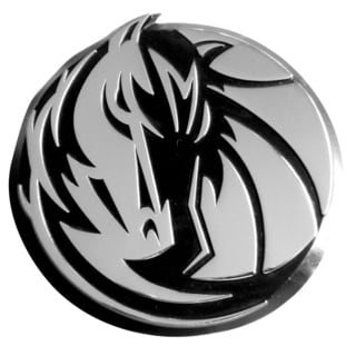 Fanmats NBA 3 x 3-inch Dallas Mavericks Chromed Emblem