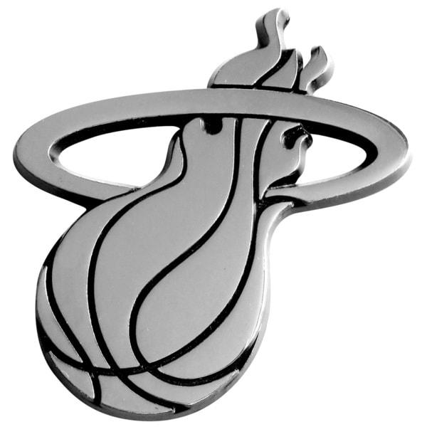 Fanmats NBA Miami Heat Chromed Metal Emblem