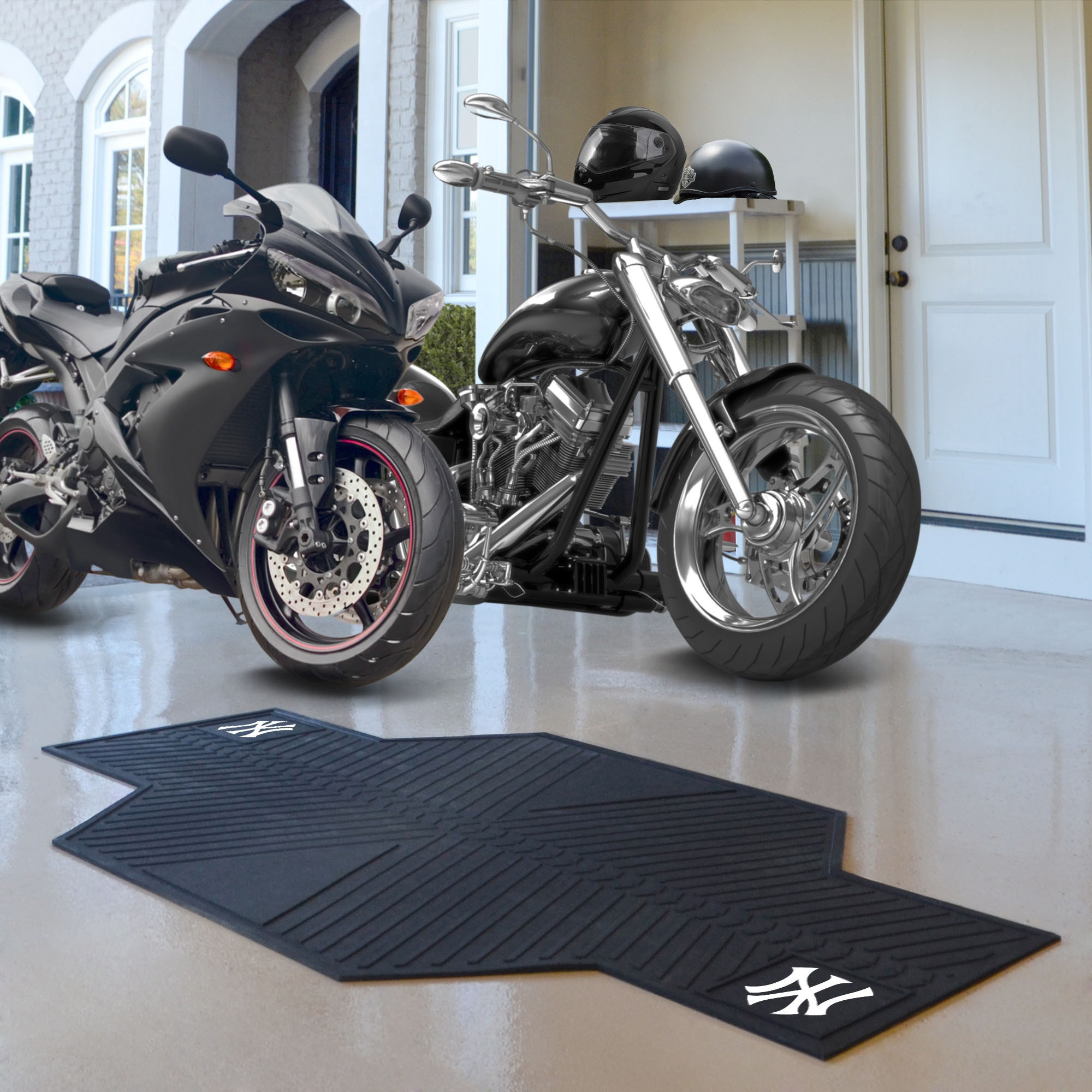 Fan Mats MLB Heavy-Duty Rubber Motorcycle Mat (MLB Kansas...