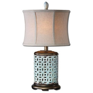 Uttermost Rosignano 1-light Aged Blue Buffet Lamp