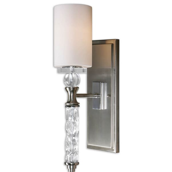 Uttermost Campania 1 Light Brushed Nickel Wall Sconce
