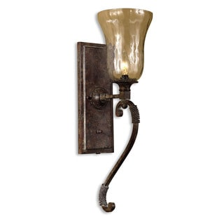 Uttermost Galeana 1-light Antique Saddle Wall Sconce