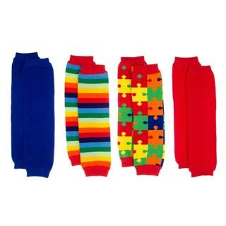 Autism Awareness Baby Leg Warmers (Set of 4)