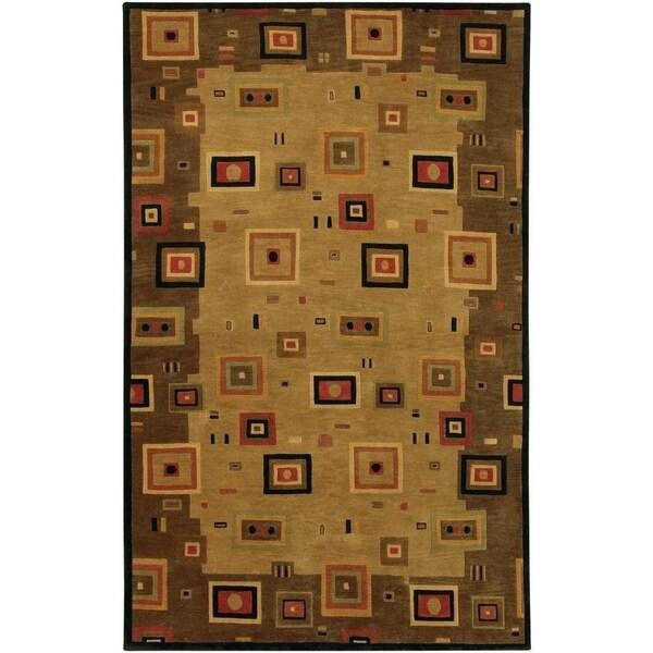 Couristan Pokhara Timberlake Multi-Earthtones Wool Area Rug - 3'6 x 5'6