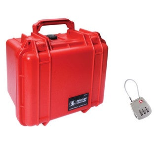 Pelcan 1300 Red Case with free 1506TSA PeliLock