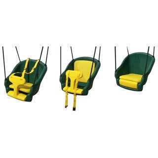 Backyard Discovery 2-n-1 Green/Yellow Plastic Safety Swing