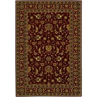 Couristan Royal Luxury Brentwood/Bordeaux Wool Area Rug - 4'7 x 6'6