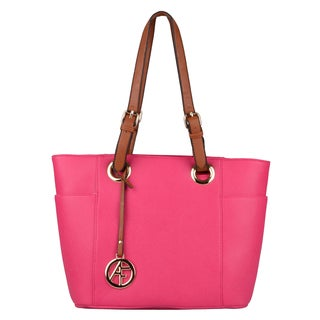 Journee Collection Womens Fuchsia Double-Handle Tote Bag