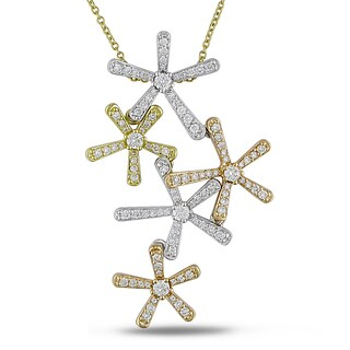 Miadora Signature Collection 18k Yellow Gold 3 1/4ct TDW Cascading Diamond Necklace