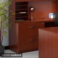 Mayline Aberdeen Lateral File, 2 Drawers Letter/Legal for use with Credenza, Return, Extended Corners, sold separately