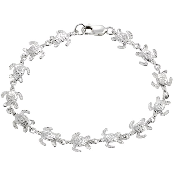 Journee Collection Sterling Silver Turtle Bracelet