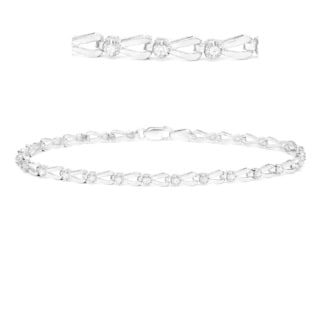 Auriya 14k White Gold 1/4ct TDW Diamond Open Link Bracelet (H-I, I2-I3)
