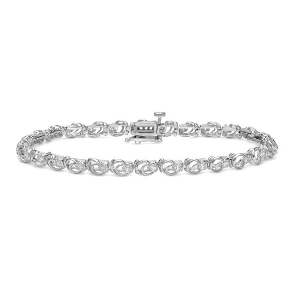 Auriya 14k White Gold 3 5ct TDW Open Link Design Diamond Bracelet