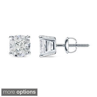 Auriya 1/2ct TDW Cushion Cut Diamond Stud Earrings