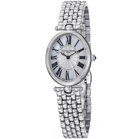 Frederique Constant Women's FC-200MPW2V6B 'Art Deco' Stainless Steel Watch