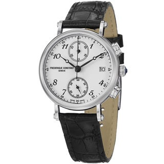 Frederique Constant Women's FC-291A2R6 'Classics' Black Leather Strap Watch