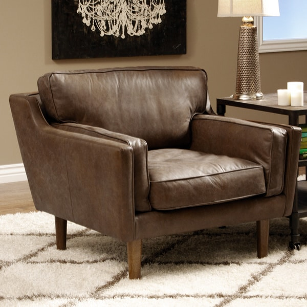 Beatnik Oxford Tan Leather Chair Free Shipping Today