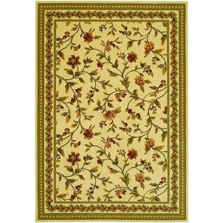 Couristan Royal Luxury Winslow/Linen-Beige Wool Area Rug - 4'7 x 6'6