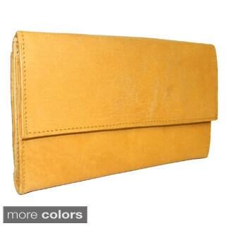 Women's Cowhide Leather Billfold Wallet