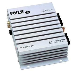 Pyle PLMRA120 2 Channel 240 Watt Waterproof Marine Amplifier (Refurbished)