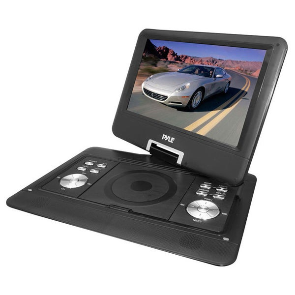 """PyleHome PDH14 14"""" Portable DVD Player w/ MP3/MP4 USB/SD Card Slot & Remote (Refurbished)"""