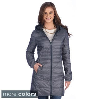 United Face Women's Lightweight Hooded Down Coat - Free Shipping