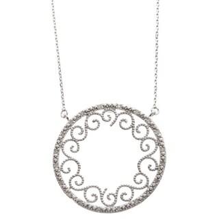 La Preciosa Sterling Silver Circle Filigree Design Necklace