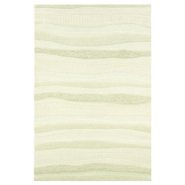 "Hand-Crafted Barlow Waves Cream Area Rug - 3'6"" x 5'6"""