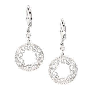 La Preciosa Sterling Silver Filigree Circle Diamond Dangle Earrings|https://ak1.ostkcdn.com/images/products/8557394/La-Preciosa-Sterling-Silver-Filigree-Circle-Diamond-Dangle-Earrings-P15834528.jpg?impolicy=medium