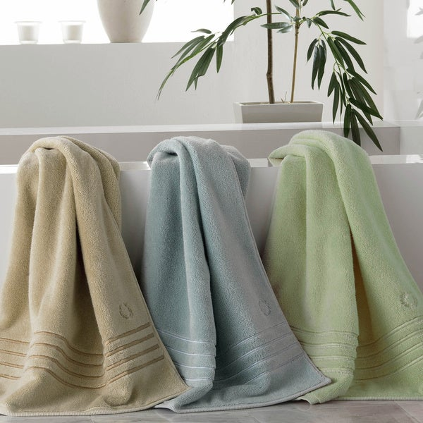 Lenox Platinum Collection Cotton Rayon Blend Bath Towel 3 Piece Set