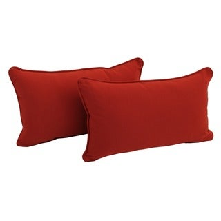 Blazing Needles Twill Removable Cover Rectangular 20-inch Wide Throw Pillows (Set of 2)