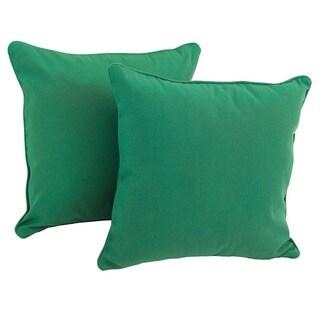 Blazing Needles 18-inch Twill Throw Pillow (Set of 2)