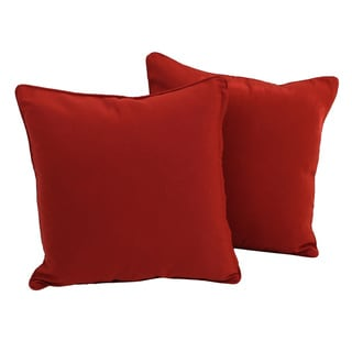 Blazing Needles 18-inch Twill Throw Pillow (Set of 2)