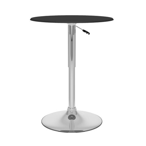 CorLiving Adjustable Height Leatherette Top Round Bar Table