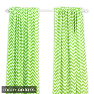 Zig Zag 96-inch Rod Pocket Curtain Panel