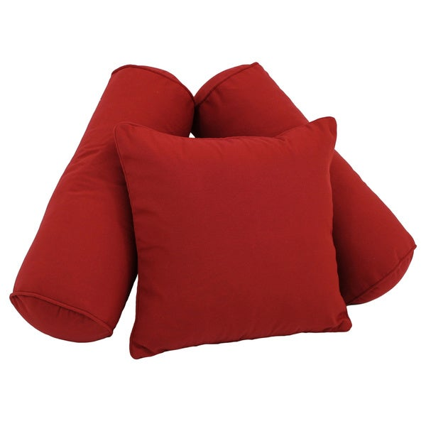 Blazing Needles Twill Solid Throw Pillows (Set of 3)