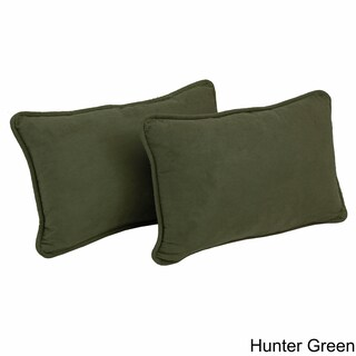 Blazing Needles 20-inch Microsuede Lumbar Throw Pillow (Set of 2) (5 options available)
